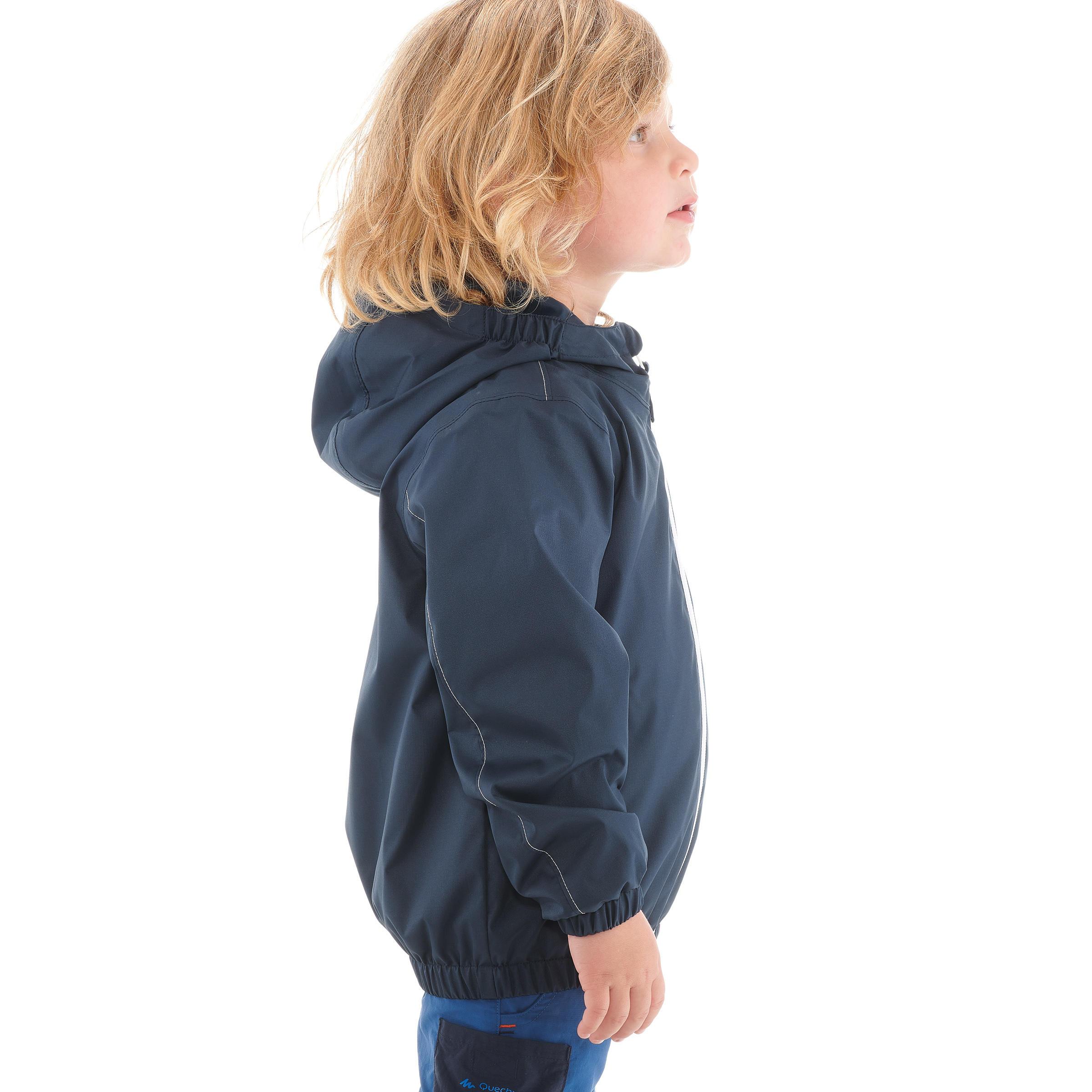 Veste imperméable de randonnée enfant garçon RANDONNÉE 500 marine