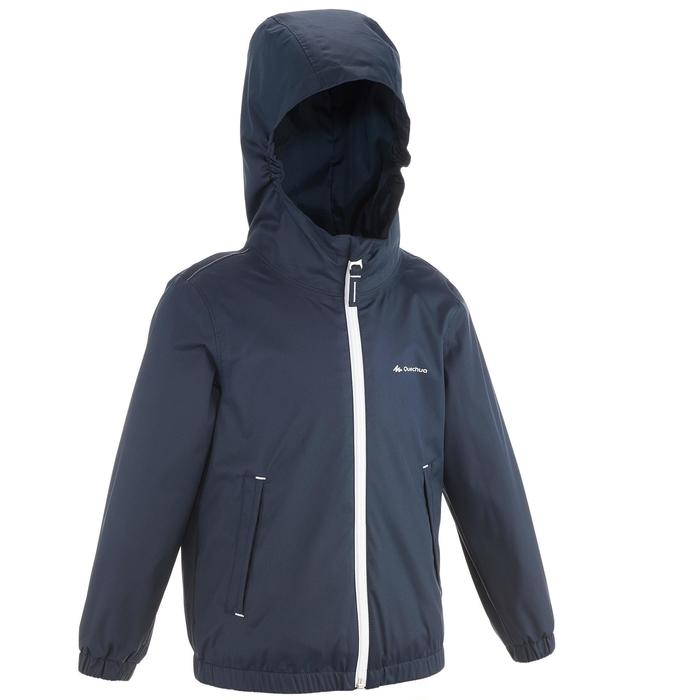 Hike 500 Children's Boy's Waterproof Hiking Jacket – Blue Print - 1282234