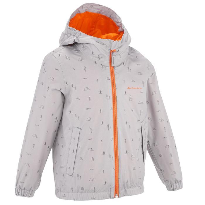 Hike 500 Children's Boy's Waterproof Hiking Jacket – Blue Print - 1282235