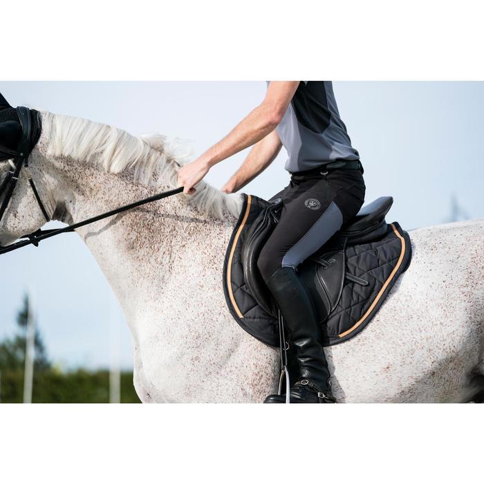 Pantalon équitation homme léger TRAINING MESH gris carbone et - 1282243