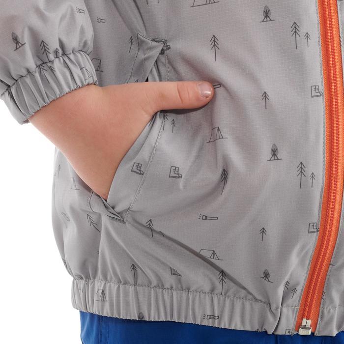 Hike 500 Children's Boy's Waterproof Hiking Jacket – Blue Print - 1282252