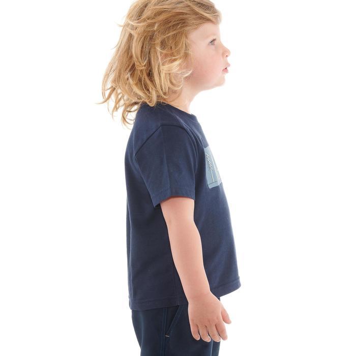 Camiseta de senderismo júnior MH100 azul marino