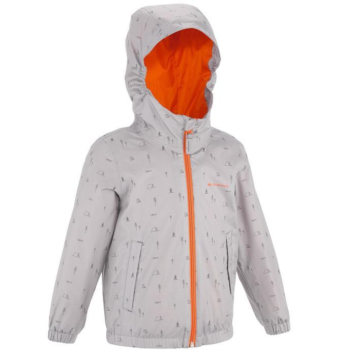 Hike 500 Children's Boy's Waterproof Hiking Jacket – Blue Print - 1282258