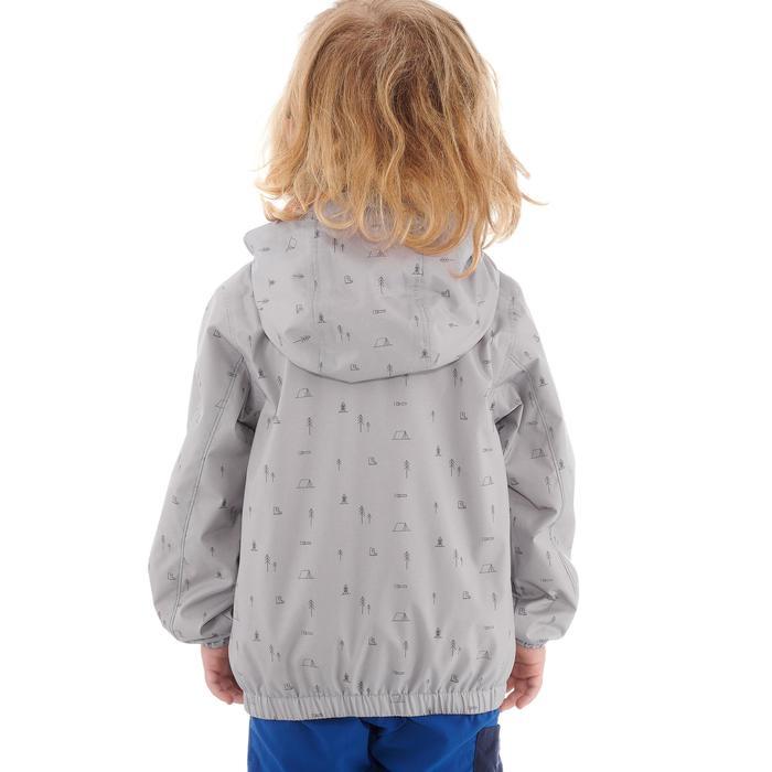 Hike 500 Children's Boy's Waterproof Hiking Jacket – Blue Print - 1282259