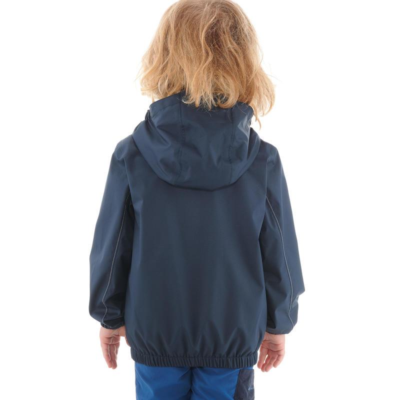 Áo khoác chống thấm leo núi dã ngoại trẻ em Hike 500 cho bé trai - Xanh navy
