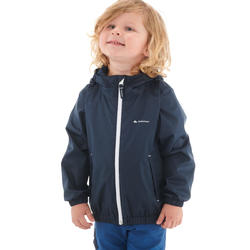 MH500 KID Children's Waterproof Hiking Jacket - Navy Blue