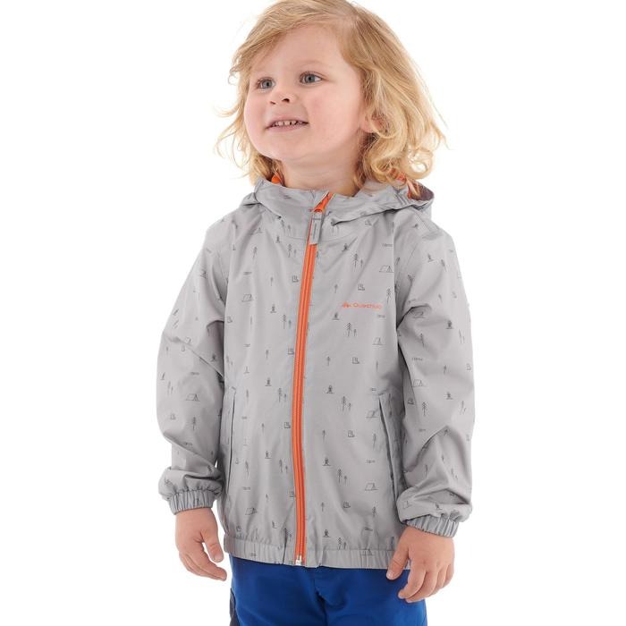 Hike 500 Children's Boy's Waterproof Hiking Jacket – Blue Print - 1282270