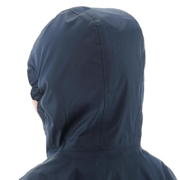 Hike 500 Children's Boy's Waterproof Hiking Jacket – Blue Print - 1282272
