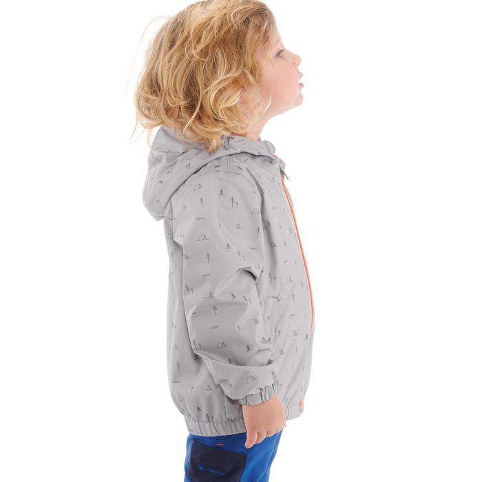 Hike 500 Children's Boy's Waterproof Hiking Jacket – Blue Print - 1282273