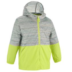 Helium Boy's Windbreaker Hiking Jacket Grey Yellow