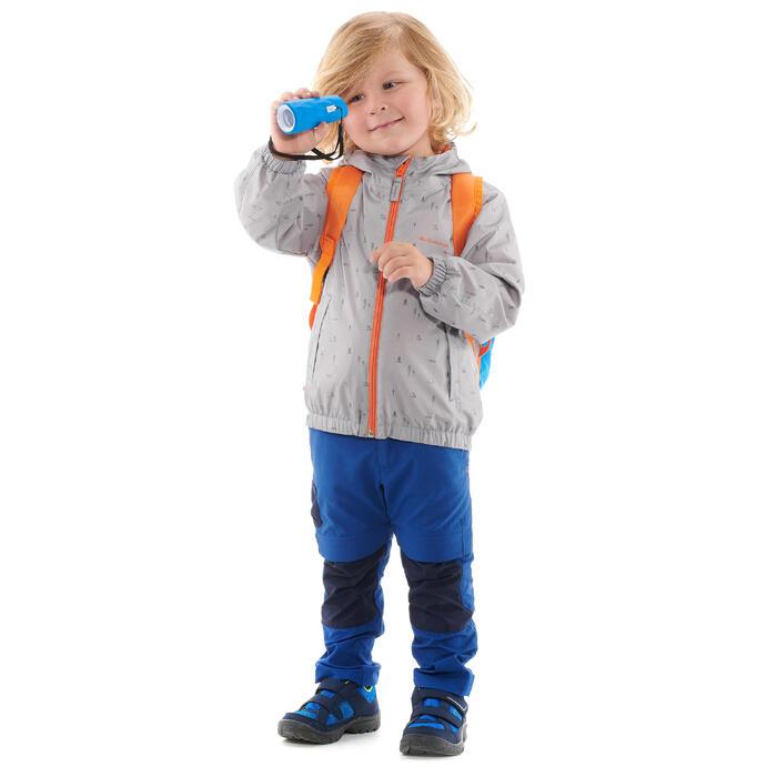 Hike 500 Children's Boy's Waterproof Hiking Jacket – Blue Print - 1282287