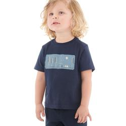 Wandelshirt voor jongens MH100 marineblauw