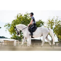 Pantalon équitation homme 500 MESH noir et gris