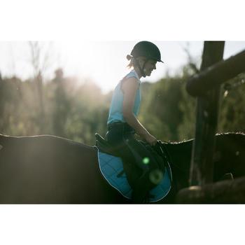 Camiseta sin mangas equitación mujer DEB500 MESH Azul turquesa y azul marino
