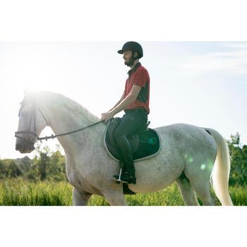Pantalon équitation homme léger TRAINING MESH gris carbone et - 1282325