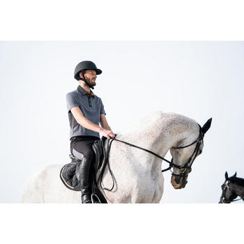 Pantalon équitation homme léger TRAINING MESH gris carbone et - 1282330
