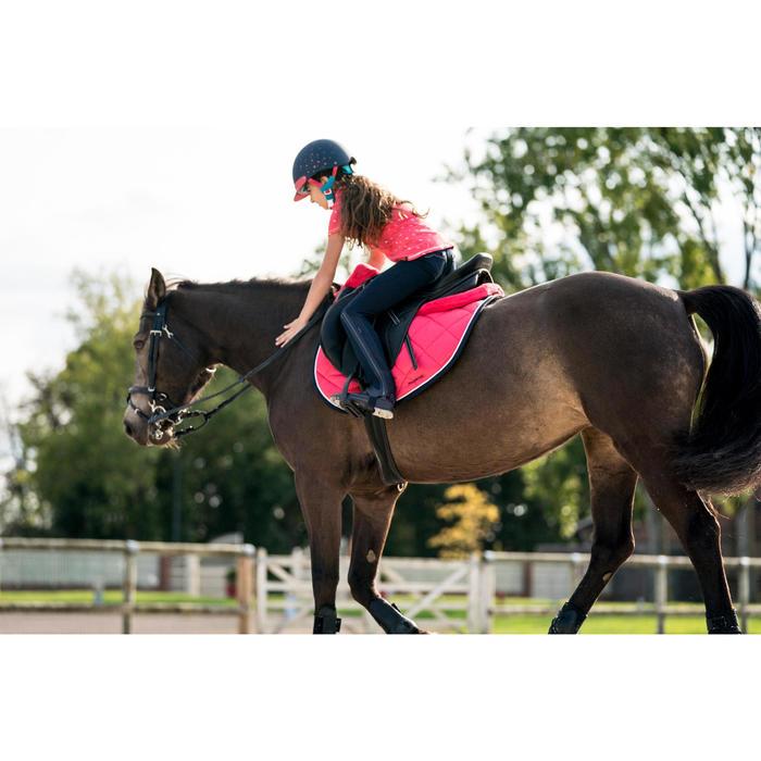 Polo manches courtes équitation fille PL140 GIRL motifs blancs - 1282380