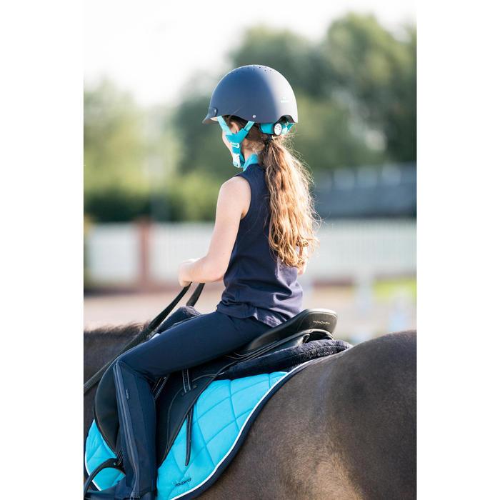 Polainas Equitación Fouganza Mesh 100 Niño Azul Marino y Gris