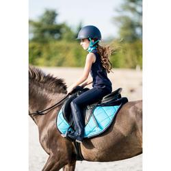 Polainas equitación júnior 100 MESH azul marino y gris