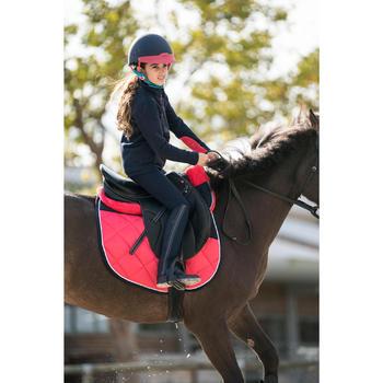 Sudadera Equitación Fouganza 500 Niño Azul Marino con 2 Materiales y Capucha
