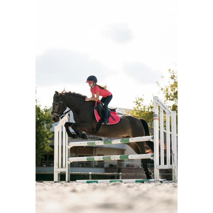 Polo manches courtes équitation fille PL140 GIRL motifs blancs - 1282391
