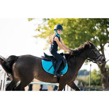 Débardeur équitation fille DEB100 marine et turquoise