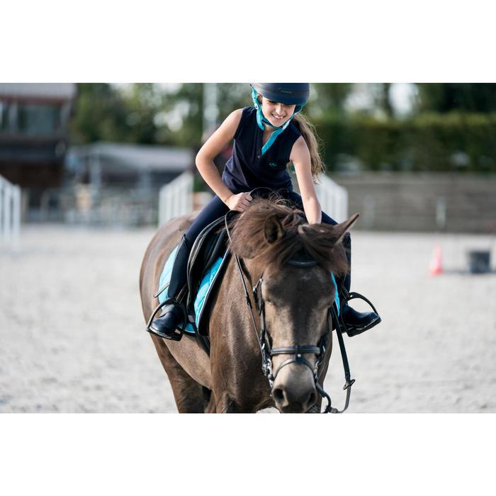 Débardeur équitation fille DEB100 marine et - 1282406