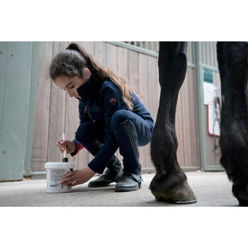 Reithose 500 Kniebesatz Kinder marineblau