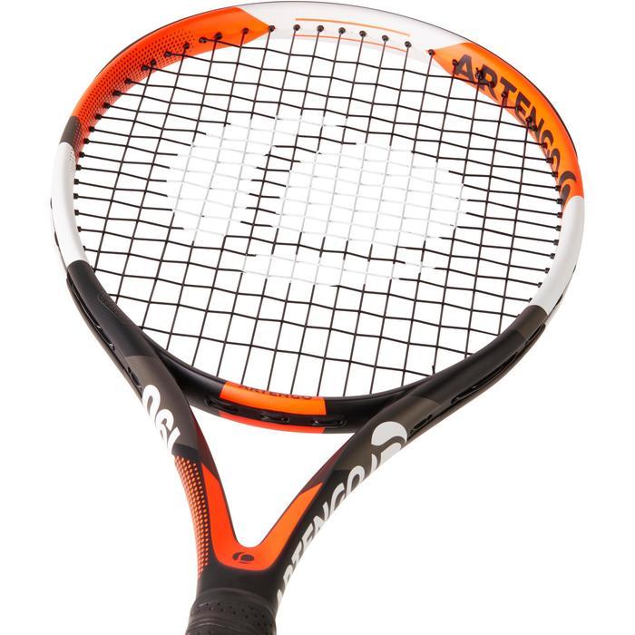 Tennisschläger TR190 Power besaitet Erwachsene orange/schwarz