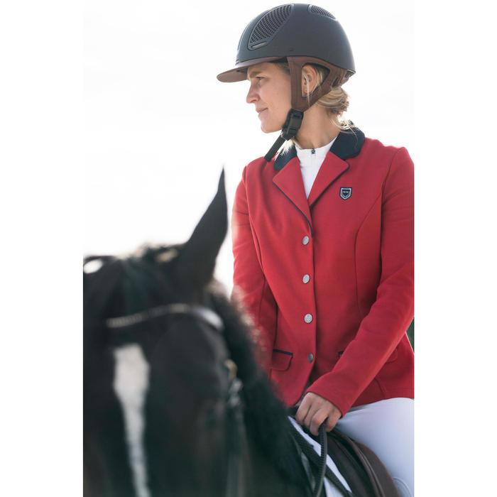 Veste de Concours équitation femme COMP100 rouge