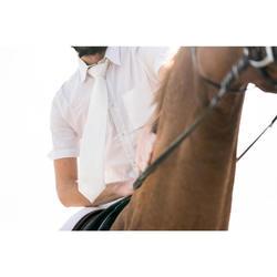 Cravate de concours équitation homme blanc