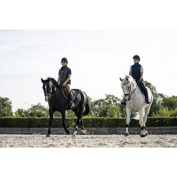 Gilet sans manche équitation femme GL500 noir et gris chiné