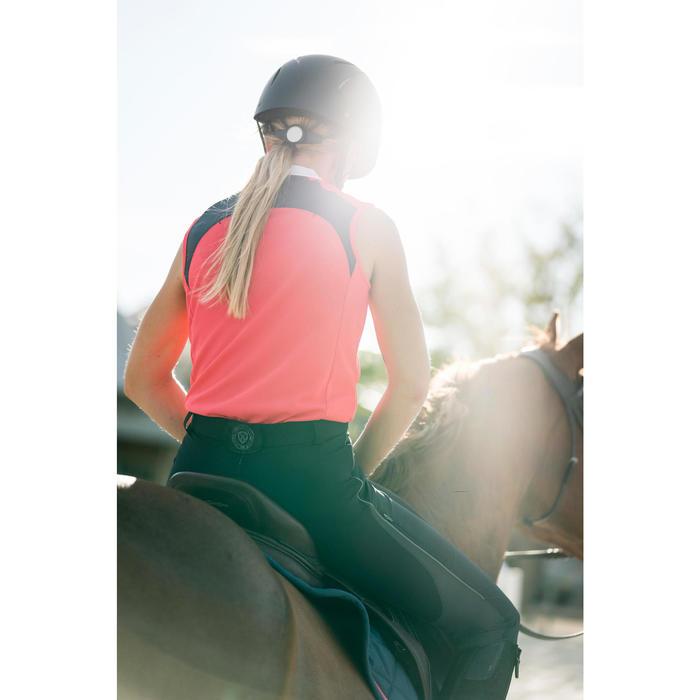 Débardeur équitation femme 500 MESH rose et gris