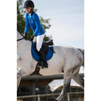Wedstrijdjasje Comp100 voor dames ruitersport koningsblauw
