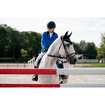 Chaqueta de concurso equitación mujer COMP100 azul royal