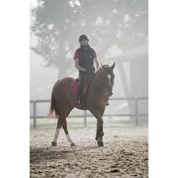 Polo manga corta equitación hombre 100 rojo