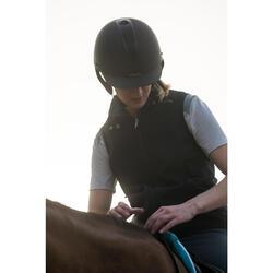 Chaleco Equitación Fouganza 500 Mujer Azul Marino Cortaviento y Perlante