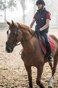 МЪЖКО ОБЛЕКЛО ЕЗДА Езда - Брич 140 с платки, тъмносин FOUGANZA - Облекло за езда