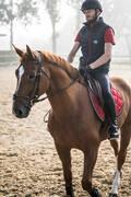 PÁNSKÉ JEZDECKÉ OBLEČENÍ Jezdectví - KALHOTY 140 S RAJTFLEKY MODRÉ FOUGANZA - Oblečení pro jezdce