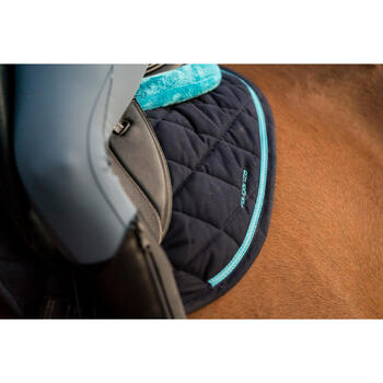 Tapis de selle équitation poney et cheval 580 bleu marine