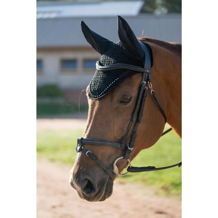Bonnet équitation cheval RIDING STRASS noir