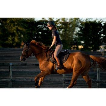 Polo manches courtes équitation femme PL500 MESH bleu marine et - 1282685