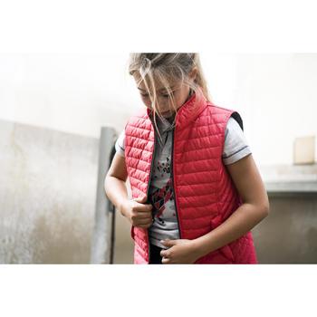 Meisjes bodywarmer GL100 ruitersport roze