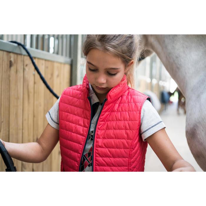 Gilet sans manche équitation fille GL100 - 1282706