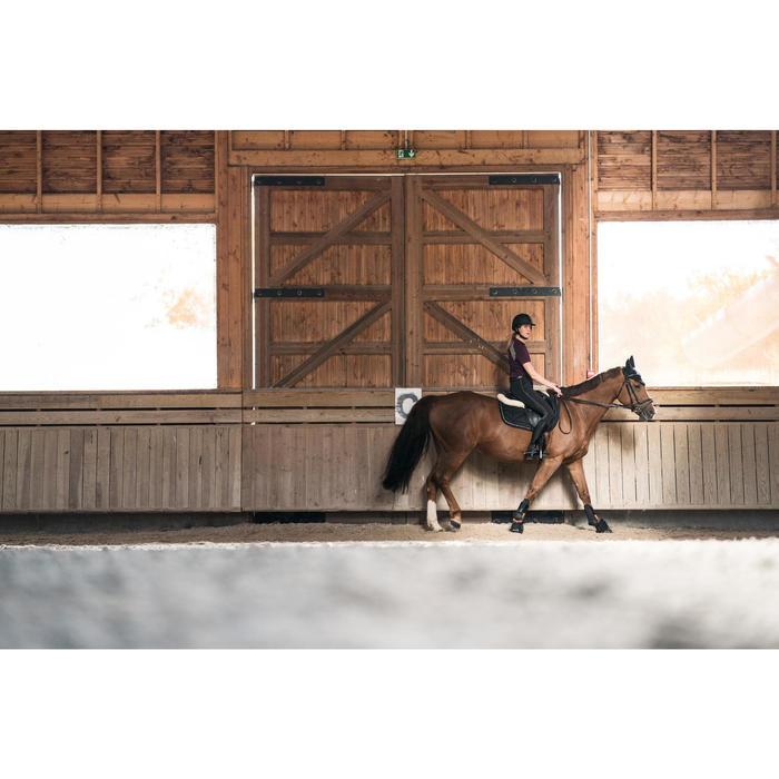 Pantalon équitation femme TRAINING ETE marine et gris