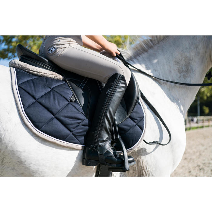 Fouganza tapis de selle quitation cheval 540 decathlon - Tapis decathlon equitation ...