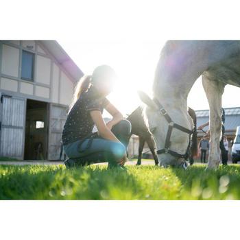 Reithose 140 Kniebesatz Kinder graublau