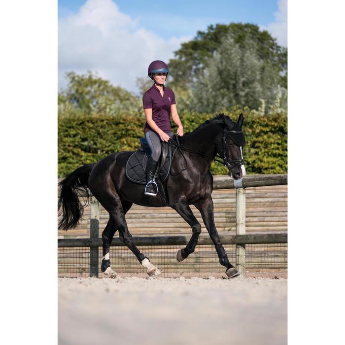 Polo manches courtes équitation femme PL500 MESH bleu marine et - 1282766