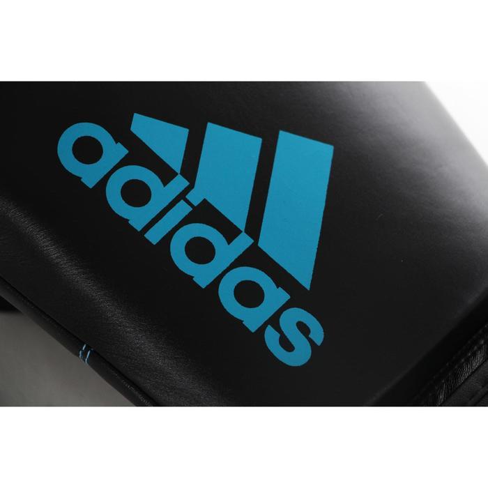 Bokshandschoenen in leer voor ervaren boksers zwart/blauw