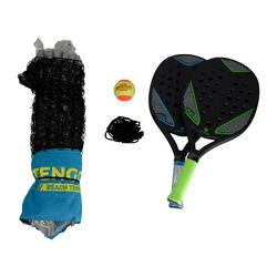 Beach-Tennis-Set mit Netz